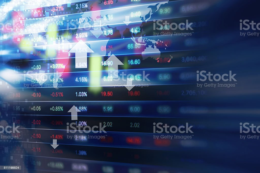 Stock market background design stock photo