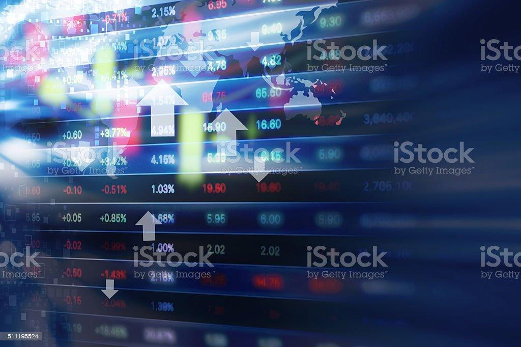 Acción mercado fondo diseño - foto de stock