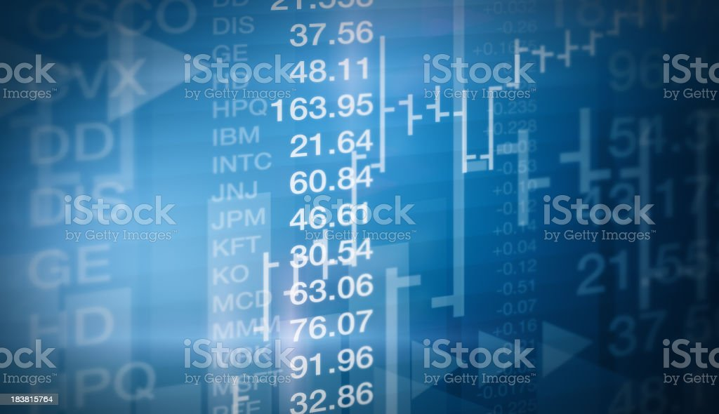Stock Market Background royalty-free stock photo