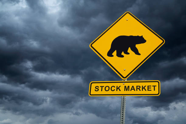 stock market bear market concept and financial crisis - mphillips007 stock pictures, royalty-free photos & images