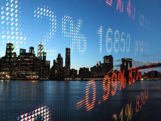 Aktienmarkt Big Data Chart Analyse Investment Finance Graph – Foto