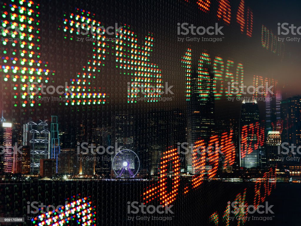 Stock Market Big Data Chart Analysis Investment Finance
