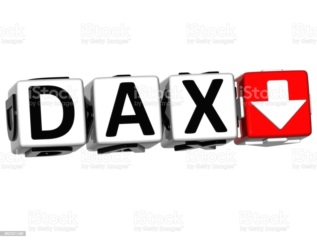 3D DAX Stock Market Block text stock photo