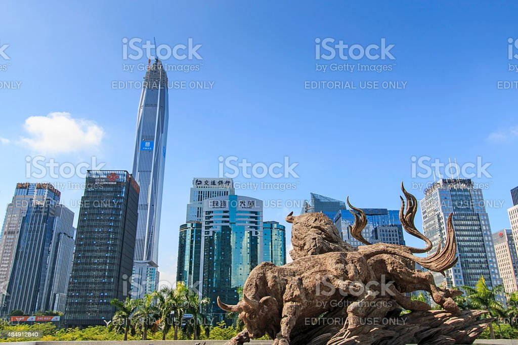 Stock market building in Shenzhen stock photo