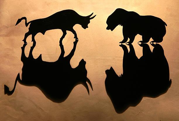 Stock Market-불스의 vs 베어 스톡 사진