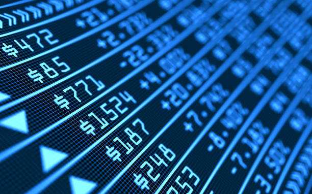 Stock market business graph chart on digital screen. Success and loss money concept. Trading screen board. Financial 3d illustration. Stock market business graph chart on digital screen. Success and loss money concept. Trading screen board. Financial 3d illustration. stock market stock pictures, royalty-free photos & images