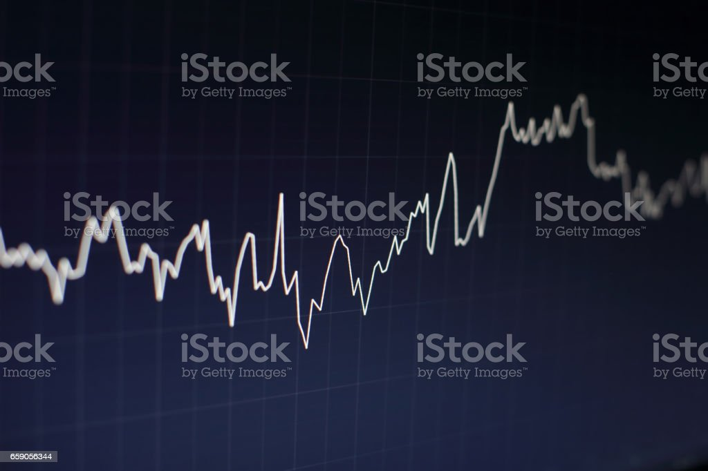 Stock market business graph chart on digital screen.Forex market, royalty-free stock photo