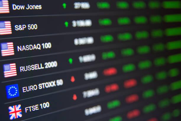 Börsenchart-Hintergrund – Foto