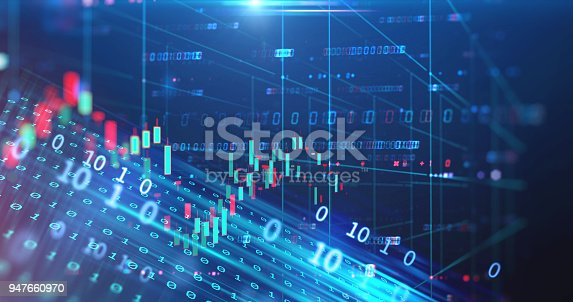 istock stock market chart data screen on technology background 947660970