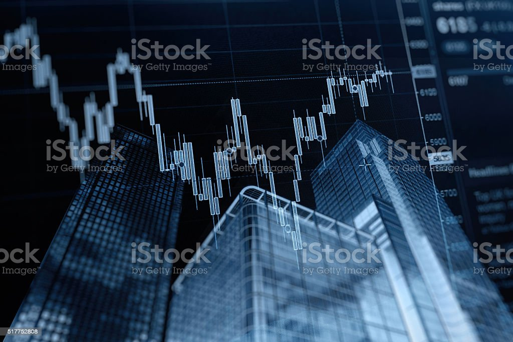 Stock market chart internet banking concept stock photo