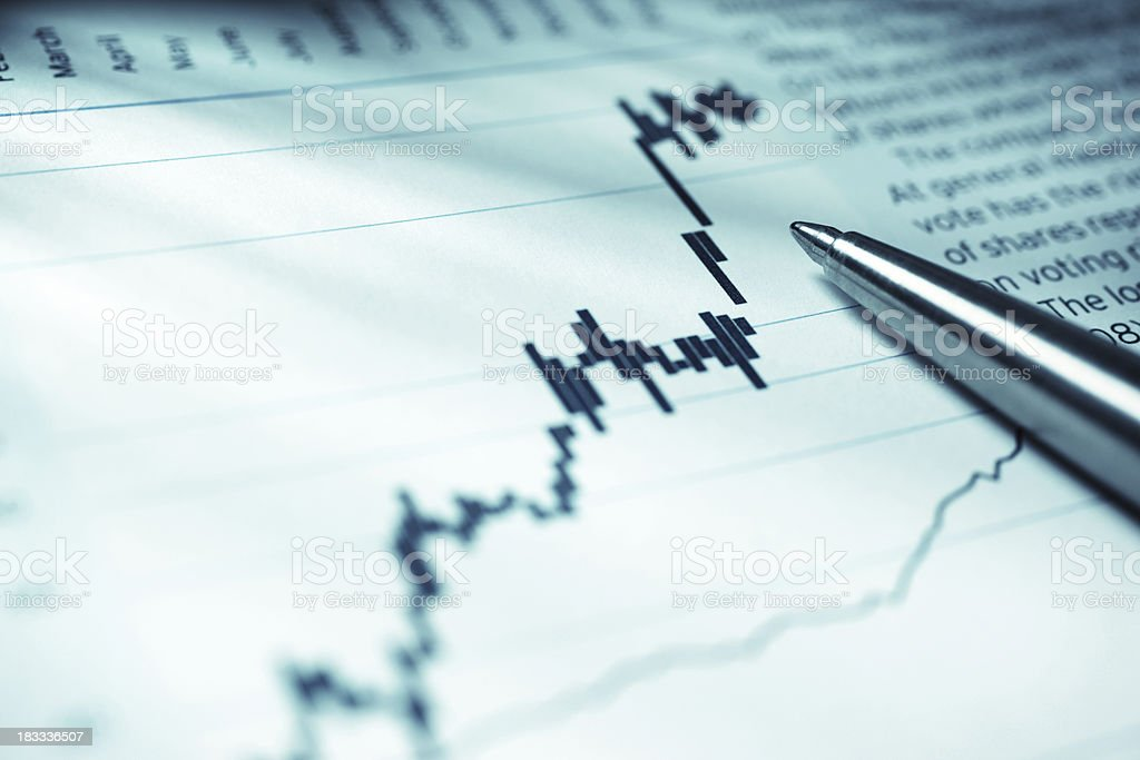 Stock Market Chart royalty-free stock photo