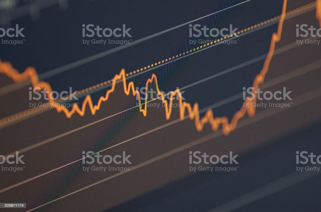 Tabla de mercado de Stock - Foto de stock de Actividad libre de derechos