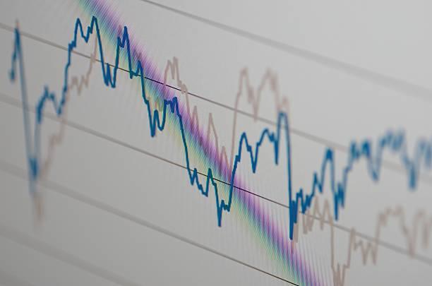 Stock market chart stock photo