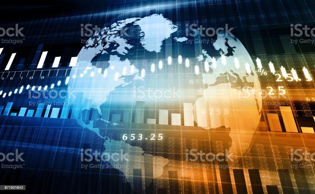 Aktiemarknaden diagram - Royaltyfri Analysera Bildbanksbilder