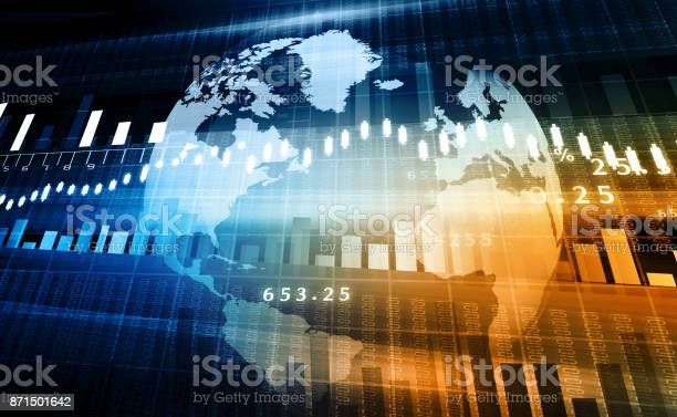 Aktiemarknaden Diagram-foton och fler bilder på Analysera