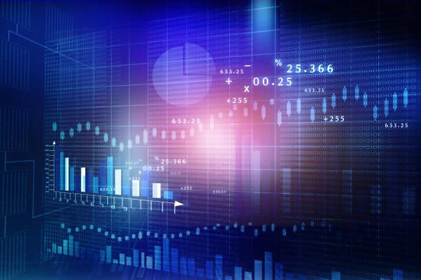 börse chart - inflation stock-fotos und bilder