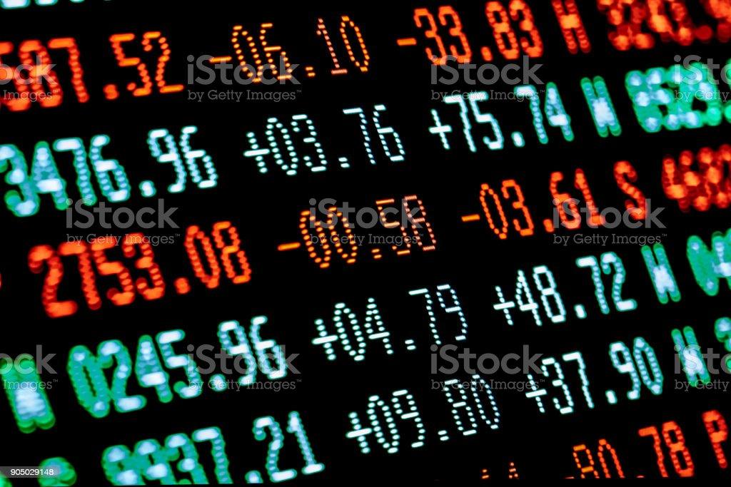stock market chart trading board stock photo