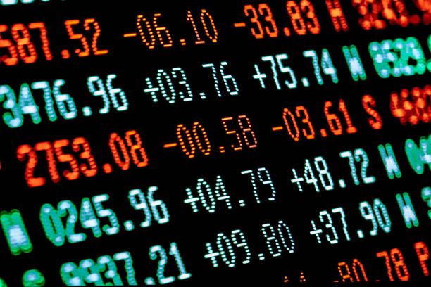 stock market chart trading board stock photo