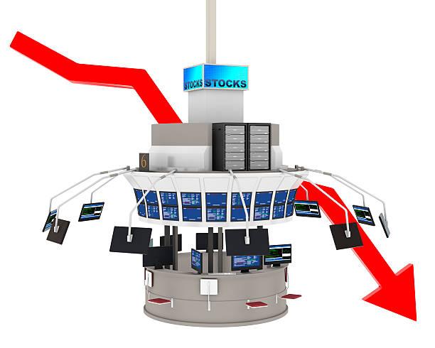 conceito de mercado de stock - nyse crash imagens e fotografias de stock