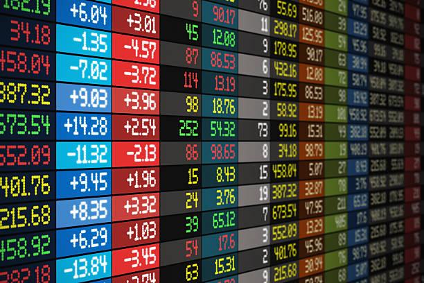 stock market konzept - kurstafel stock-fotos und bilder