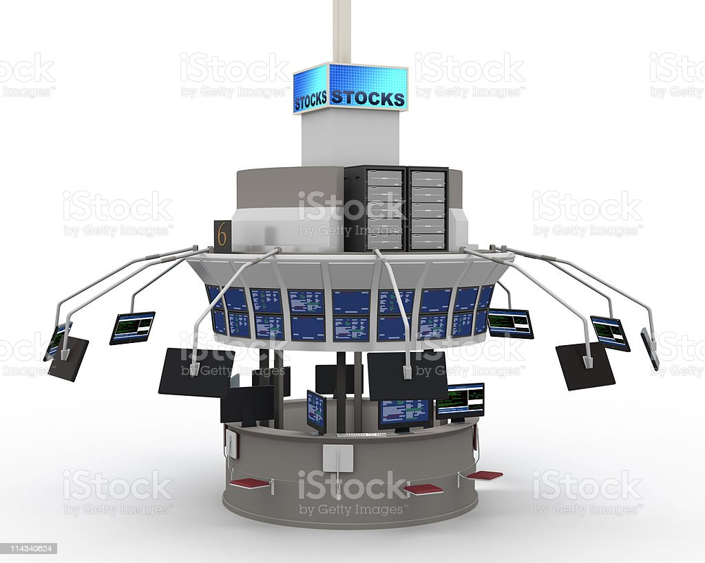 Stock Market Concept With Shadows royalty-free stock photo