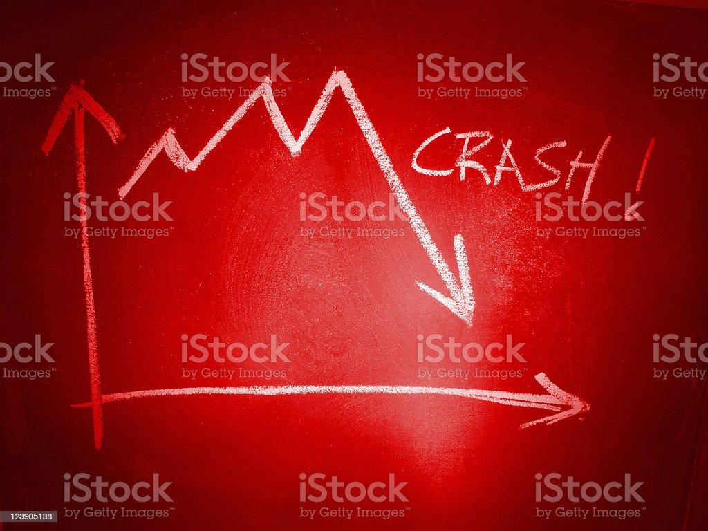 Stock Market Crash stock photo