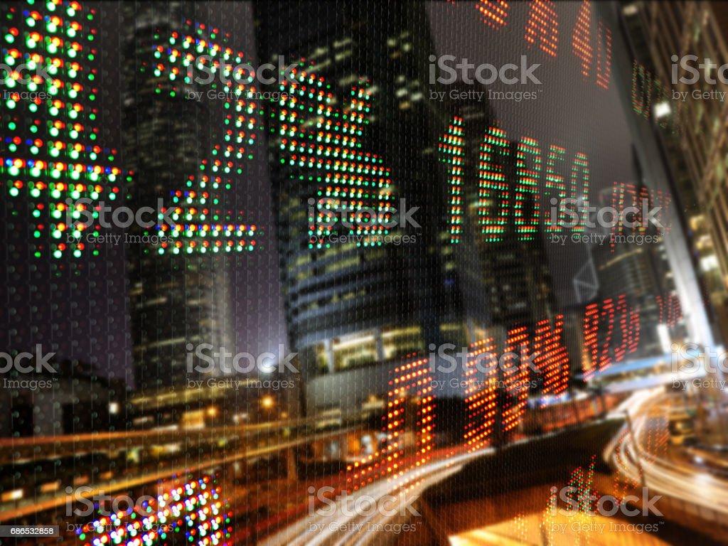 Bolsa datos tabla ticker tablilla foto de stock libre de derechos