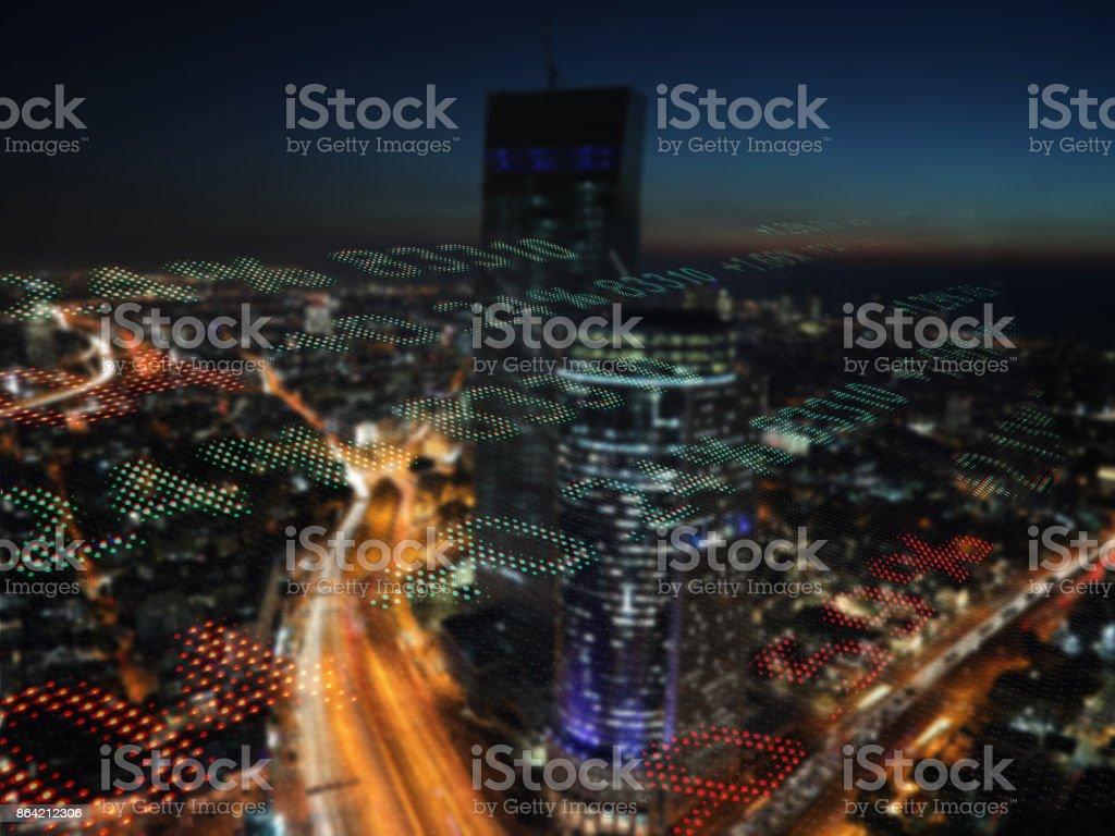 Stock market data chart display ticker board royalty-free stock photo