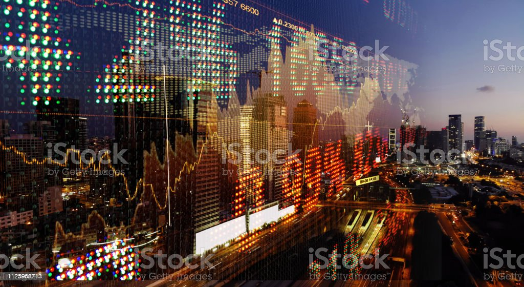 Stock Market Data Growth Chart Graph Investment Finance