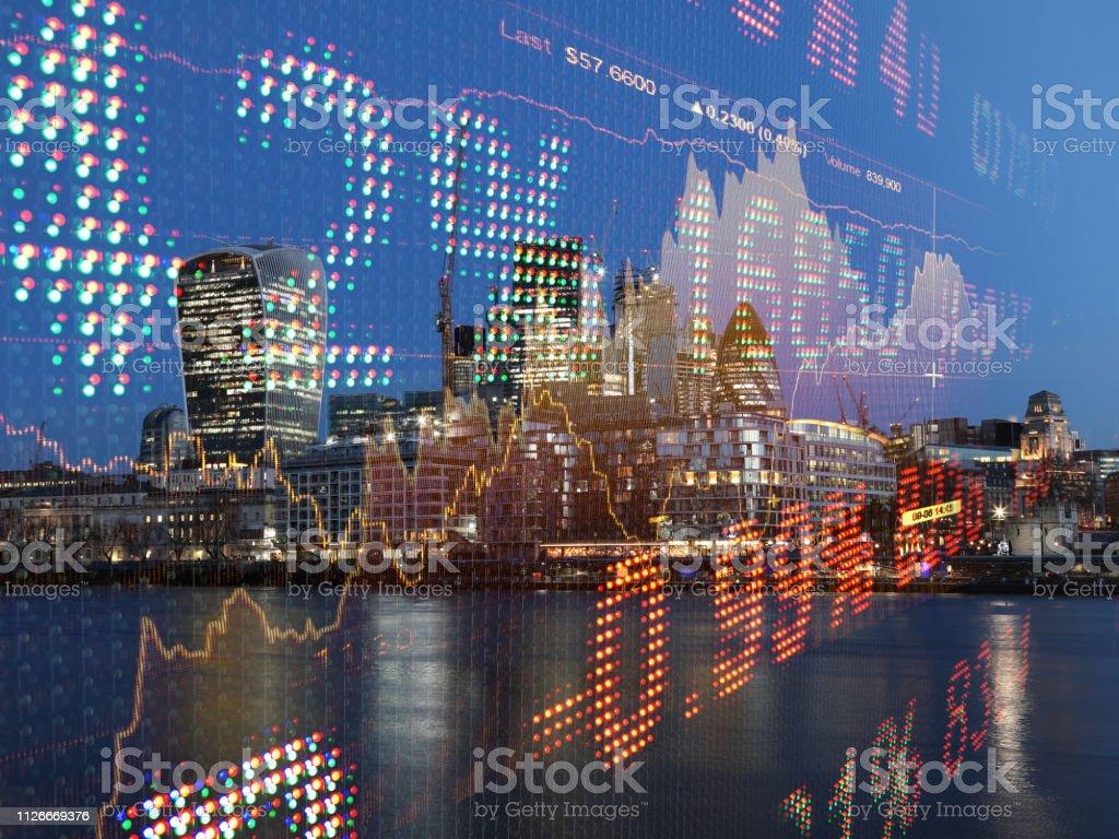 Börse Daten Wachstum Diagramm Graph Finanzierung Analyse Fintech Bankenviertel - Lizenzfrei Analysieren Stock-Foto
