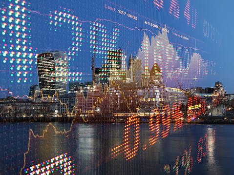Börse Daten Wachstum Diagramm Graph Finanzierung Analyse Fintech Bankenviertel Stockfoto und mehr Bilder von Analysieren