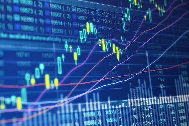 stock market data - kurstafel stock-fotos und bilder