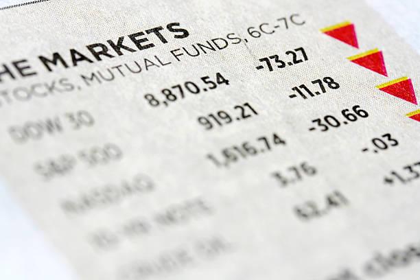 Stock market data stock photo