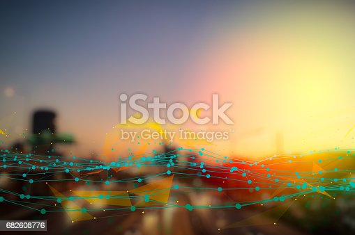 istock Stock market digital graph chart on LED display concept. A large display of daily stock market price and quotation. Indicator financial forex trade education background. 682608776