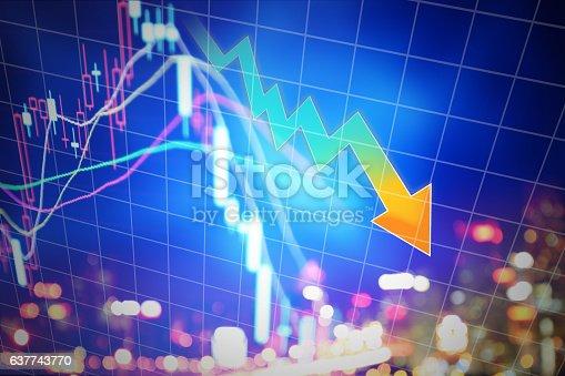 istock Stock market display 637743770