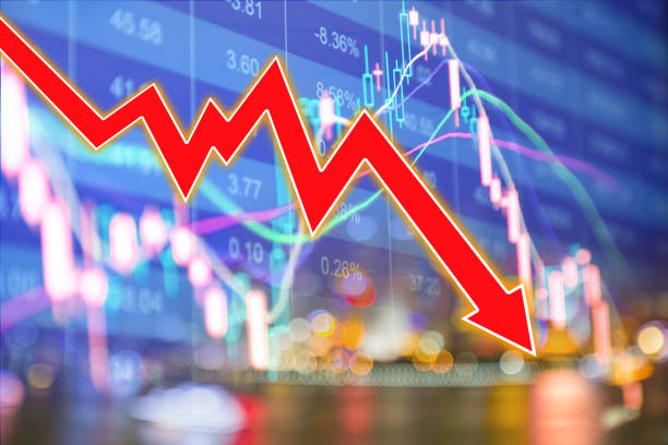 Stock market display chart background almanac stock pictures, royalty-free photos & images