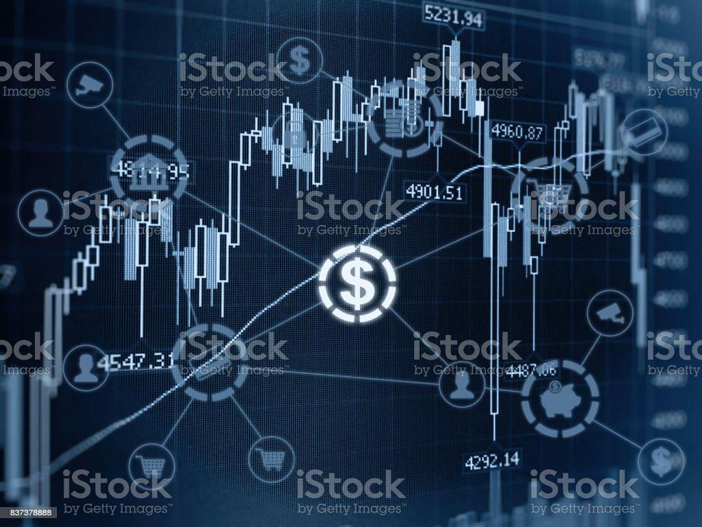 Stock market e-banking fintech finance technology