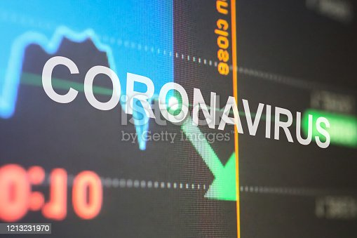 istock Stock market fall with Coronavirus outbreak 1213231970
