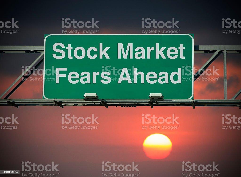 Stock Market Fears Ahead stock photo