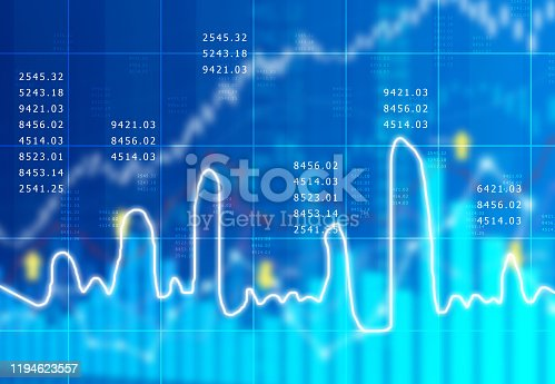istock stock market finance graph background with abstract Growth graph chart 1194623557