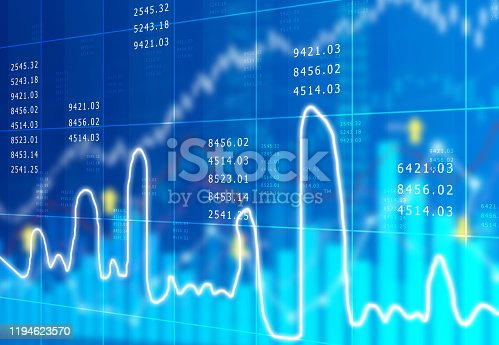 istock stock market finance graph background with abstract Growth graph chart 1194623570