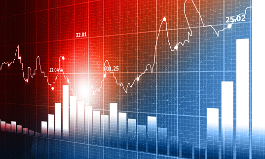 istock stock market finance graph background with abstract Growth graph chart 1194624656