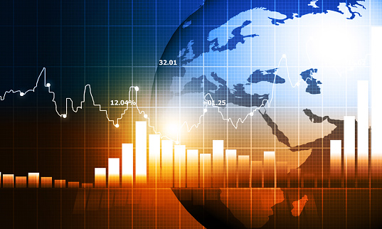 istock stock market finance graph background with abstract Growth graph chart 1194624663