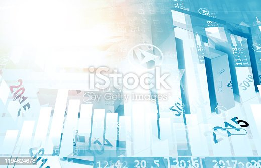 istock stock market finance graph background with abstract Growth graph chart 1194624678