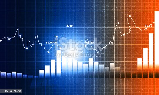 istock stock market finance graph background with abstract Growth graph chart 1194624679