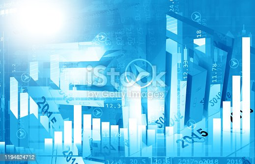 istock stock market finance graph background with abstract Growth graph chart 1194624712