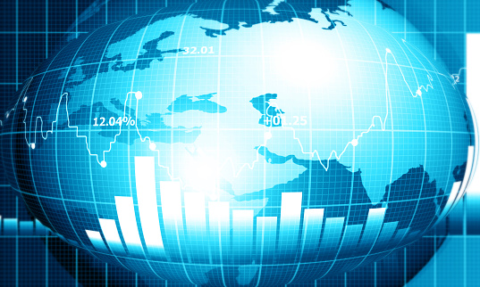 istock stock market finance graph background with abstract Growth graph chart 1194624728