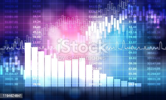 istock stock market finance graph background with abstract Growth graph chart 1194624841