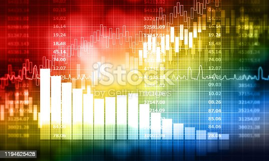 istock stock market finance graph background with abstract Growth graph chart 1194625428