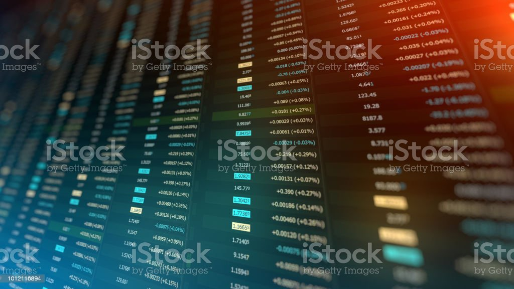 Stock Market Financial Data And Charts Stock Photo & More